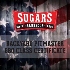 BBQ Class Certificate
