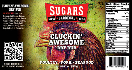 Cluckin' Awesome Label