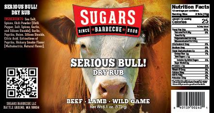 Serious Bull Label